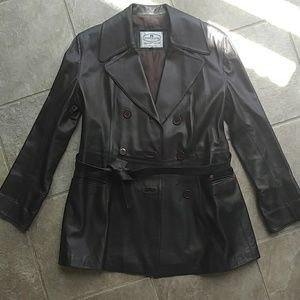 Made in Italy Genuine Lamb Leather Trench Coat